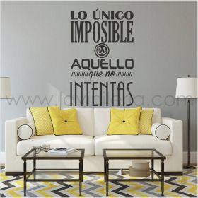 Lo unico imposible